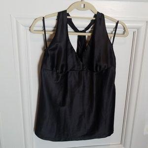NWT! Black silk halter top